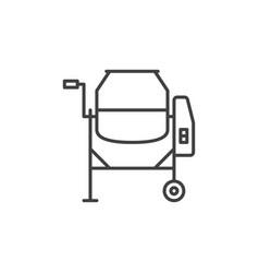 concrete mixer outline icon mixer cement vector image