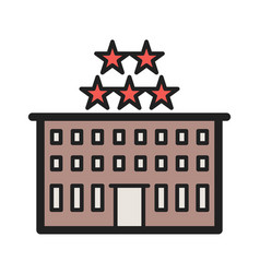 Five star hotel vector