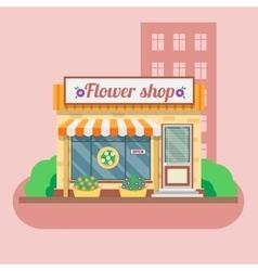Flower shop facade vector