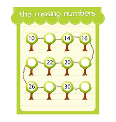 game templates with missing numbers vector image