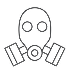 gas mask thin line icon defense and army vector image