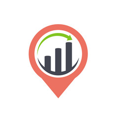 gps pointer icon business and finance logo vector image