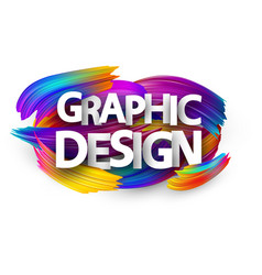 graphic design paper poster with colorful brush vector image