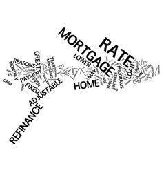 great reasons to refinance text background word vector image