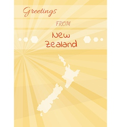 greetings from new zealand vector image