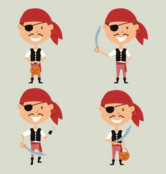 halloween pirate boy vector image