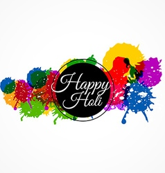Happy holi with colorful splash vector