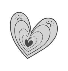 Heart shape design vector
