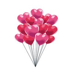 Hearts balloons icon vector