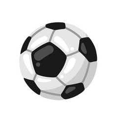 icon soccer ball in flat style vector image