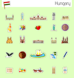 Icons of hungary vector