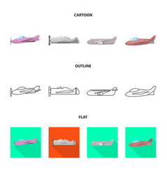 isolated object travel and airways icon vector image