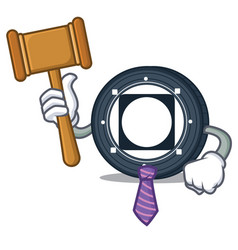 Judge byteball bytes coin mascot cartoon vector
