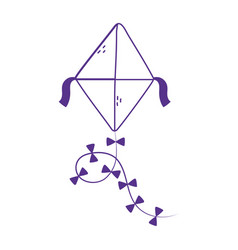 Kids toy kite icon design white background line vector