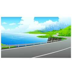 Lakeside road vector