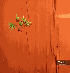 Leaf on orange wallpaper vector image