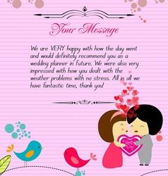 Letterhead valentines pink vector image