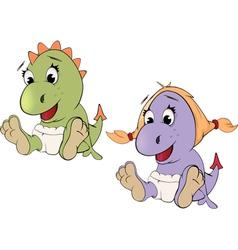 Little dragons Cartoon vector image