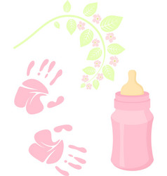 little lady baby shower related items collection vector image