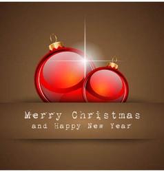 Merry Christmas Elegant Suggestive Background vector image