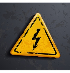 Metal sign high voltage vector