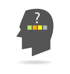 mind icon of choices and decision making vector image