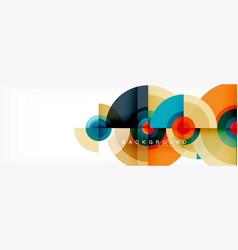 minimal geometric circles and triangles abstract vector image