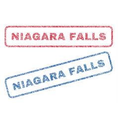 Niagara falls textile stamps vector