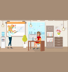 Office work and startup development vector