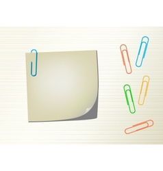 Page notepad and paper clips vector