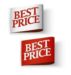 Price-tag labels best price message set vector