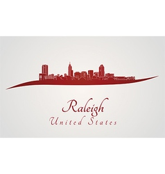 Raleigh skyline in red vector
