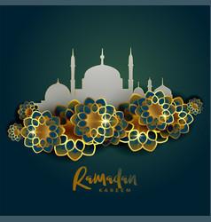 Ramadan kareem islamic greeting background vector