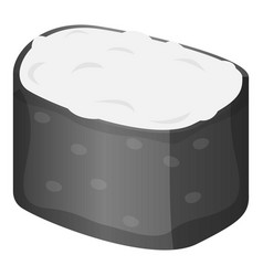 rice sushi roll icon cartoon style vector image