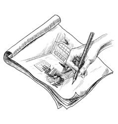 Room Sketch vector image