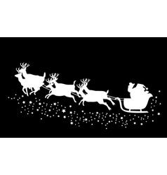 Santa stars vector
