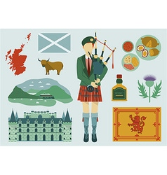 scotland design elements vector image