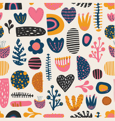 Seamless colorful pattern abstract shapes vector
