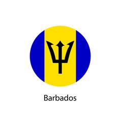 Simple button flag - barbados vector