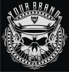 skulls captain vector image