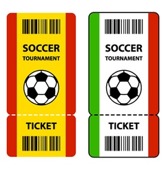 soccer football tournament tickets vector image