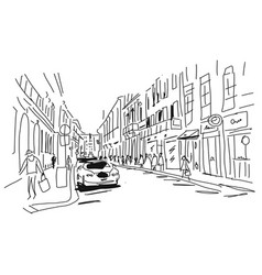 street sketch for your design vector image