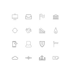 web applications simple linear icons set outlined vector image