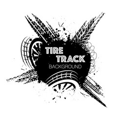 Wheel tire track black circle vector