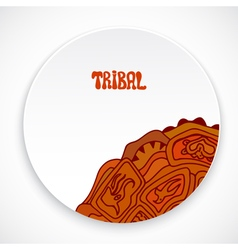 White plate with a print style tribal isolated vector