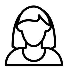 Woman faceless avatar with shoulder length hair vector