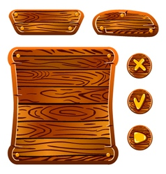 Wooden game assets-5 vector