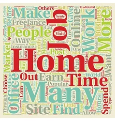 Work from home jobs text background wordcloud vector