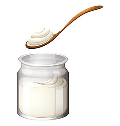 Yoghurt or cream on white vector