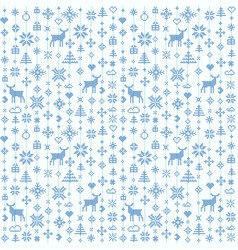 abstract seamless pattern winter scandinavian vector image vector image